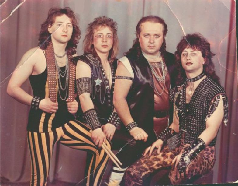 "13. Белорусский метал–бэнд ""Вепри суицида"", 1980–е. интересное, исторические фото, история, фото"