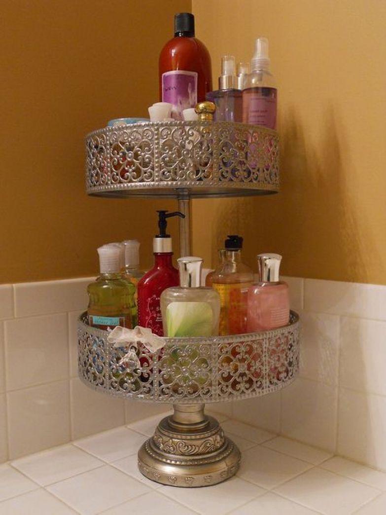 9. Такая подставка для тортов - элегантный способ хранить мыло и лосьоны. ванная комната, лайфхаки, уют