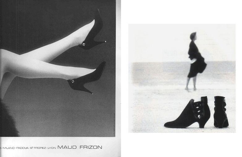Рекламная кампания Maud Frizon, 1983 год. Рекламная кампания Maud Frizon, 1986 год. Фотограф: Доминика Иссерманн.