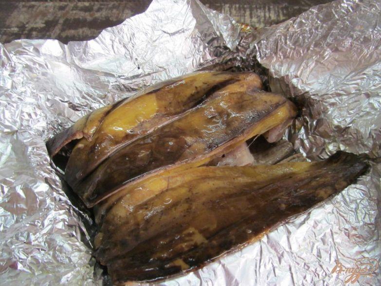 Фото приготовление рецепта: Запеченная свинина в банановой кожуре шаг №4