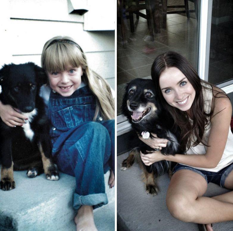1998 и 2012: я и моя собака до и после, друзья, собаки, фото