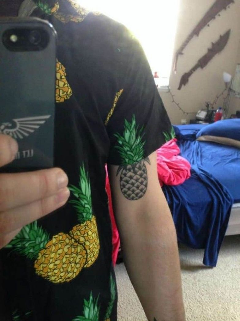 My Pineapple Shirt Lines Up With My Pineapple Tattoo