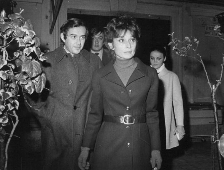 Одри Хепбёрн и Андреа Дотти. / Фото: www.pinimg.com