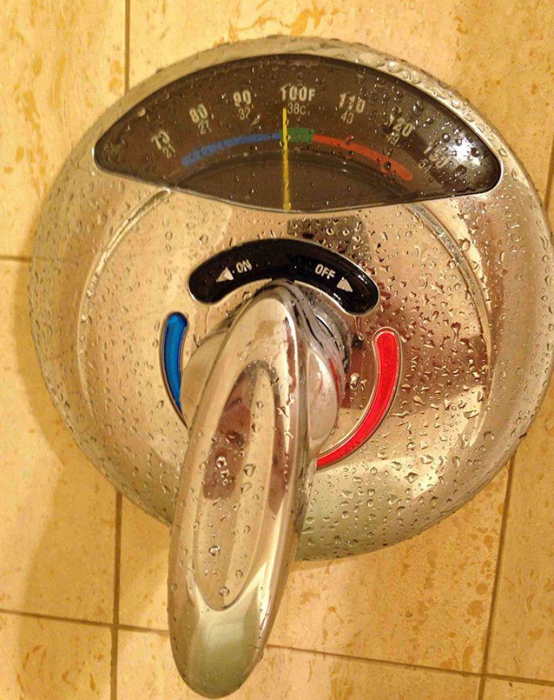 Душ с термометром на кране нестандартно, оригинально, проблемы, решения