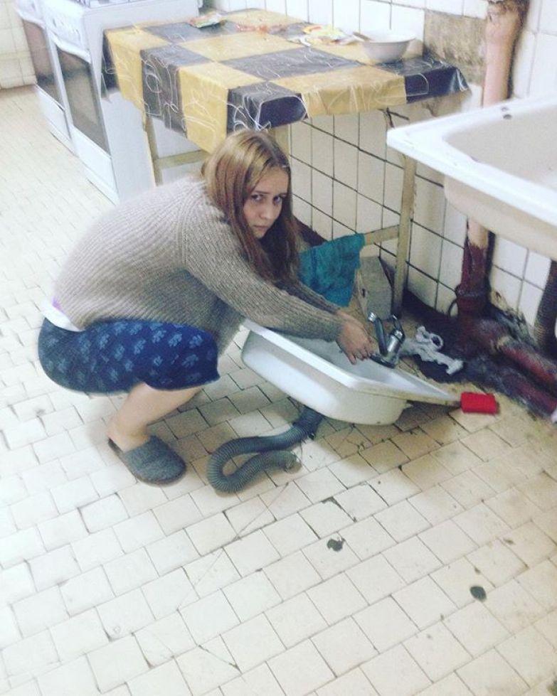 Утром хотела помыть руки общага, общежитие, прикол, студенты