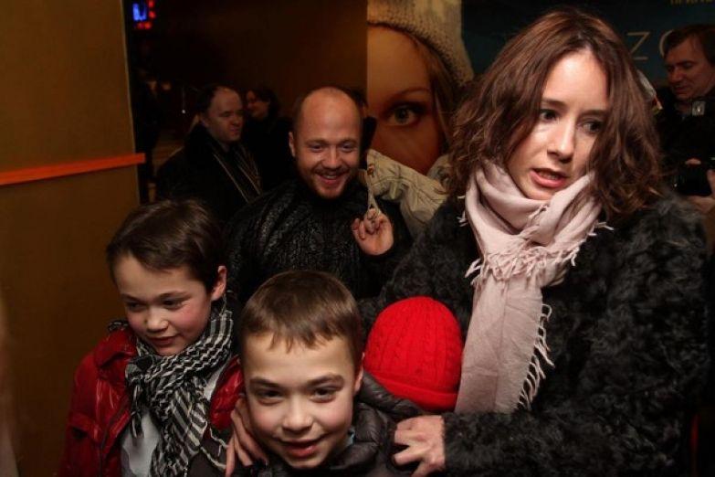 Стычкин с детьми и Ольгой