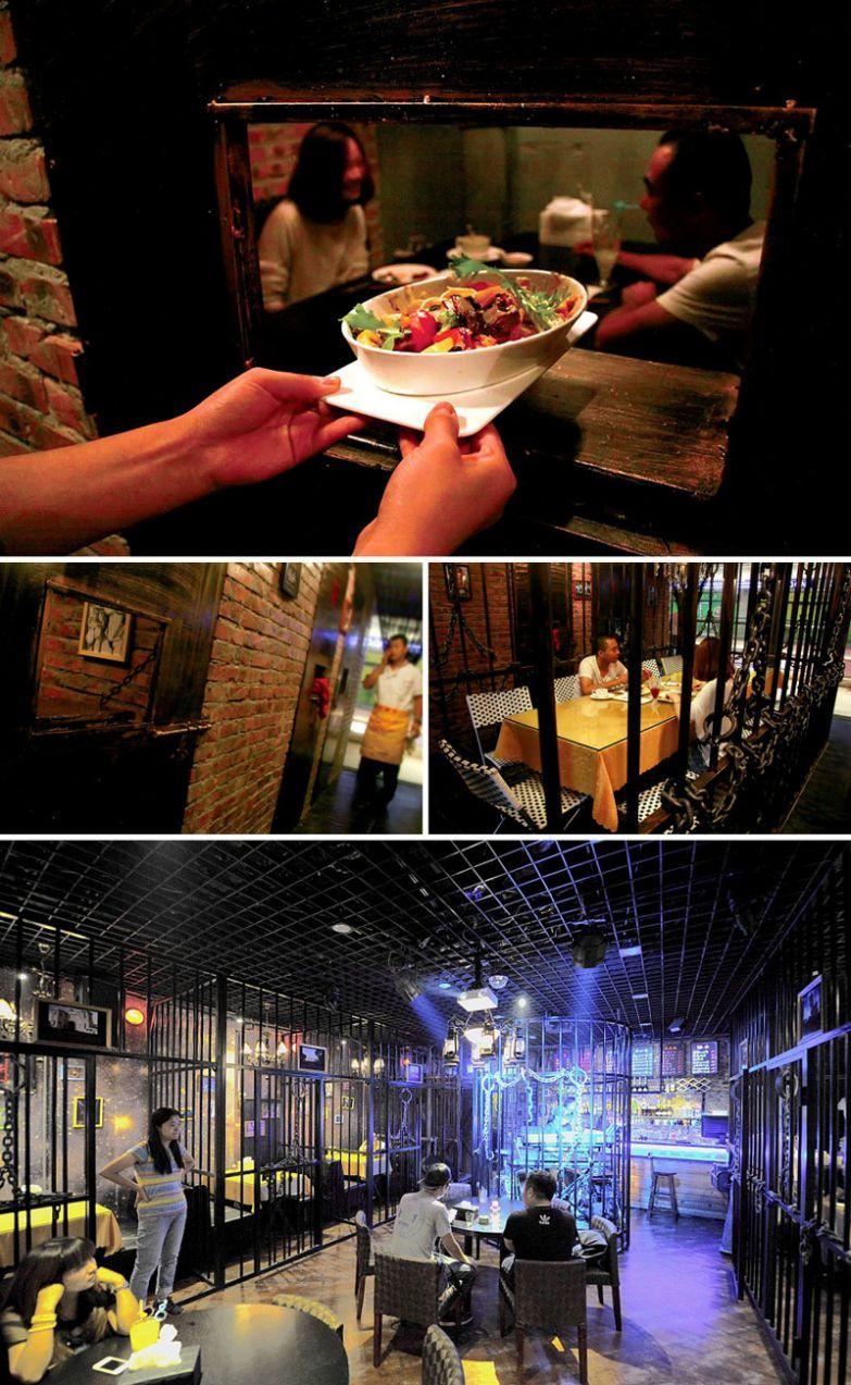 Тюремная атмосфера, Prison Of Fire,Тяньцзинь, Китай мир, подборка, ресторан