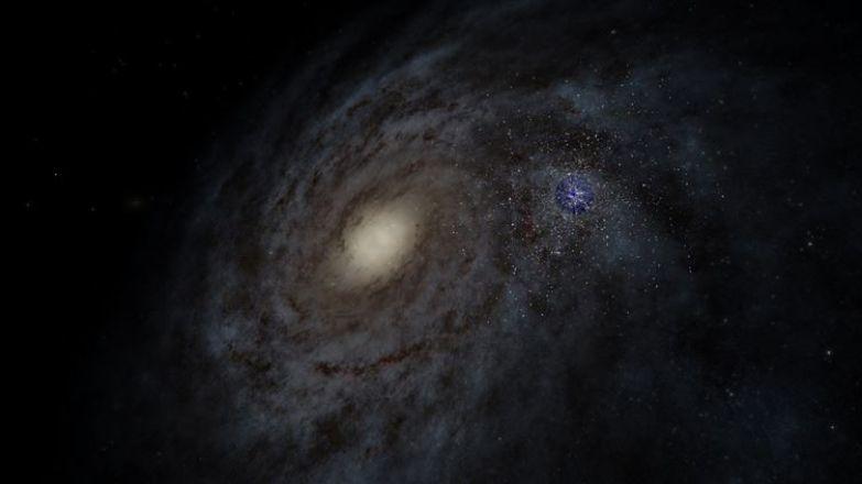 3. Звезды, видимые с Земли, по сравнению со всей Галактикой Млечного пути люди, мир, фотоподборка