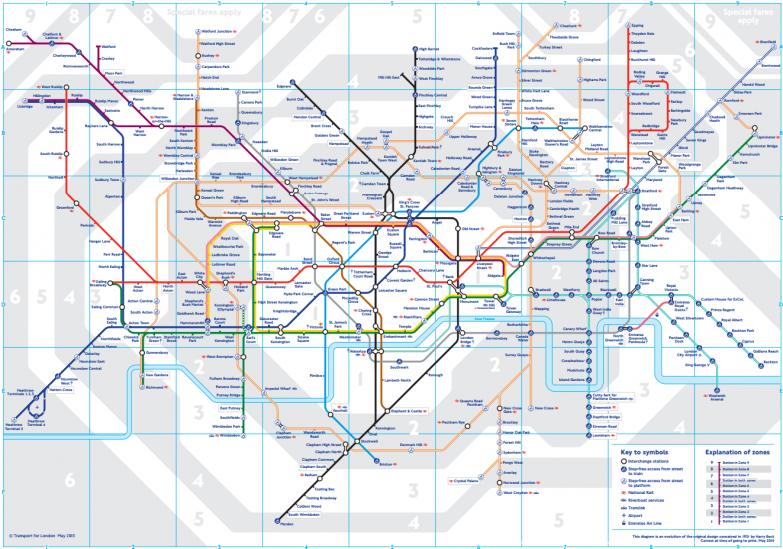 4. Лондон — 270 станций (11 линий) в мире, карты, метро, транспорт