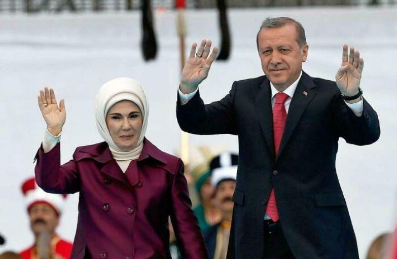 Реджеп Тайип Эрдоган и Эмине Эрдоган. / Фото: www.tagesspiegel.de