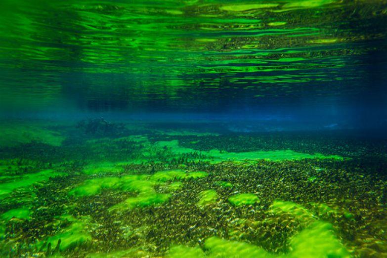 Обновление воды в Голубом озере