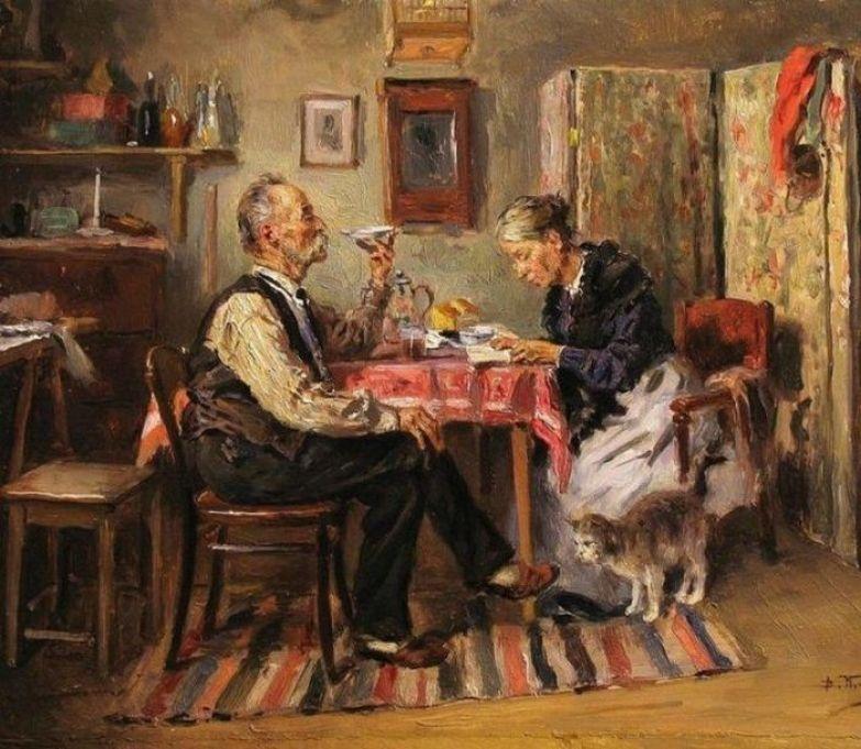 К. Маковский. Утренний чай.1891.