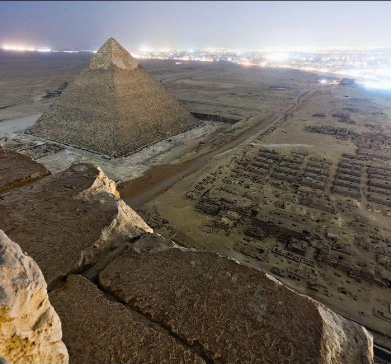 7. Фотография с вершины пирамиды Гизы люди, мир, фотоподборка