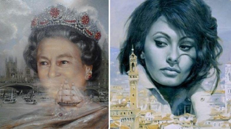 Королева Англии - Елизавета II. / Актриса и певица - Cофи Лорен. | Фото: fishki.net