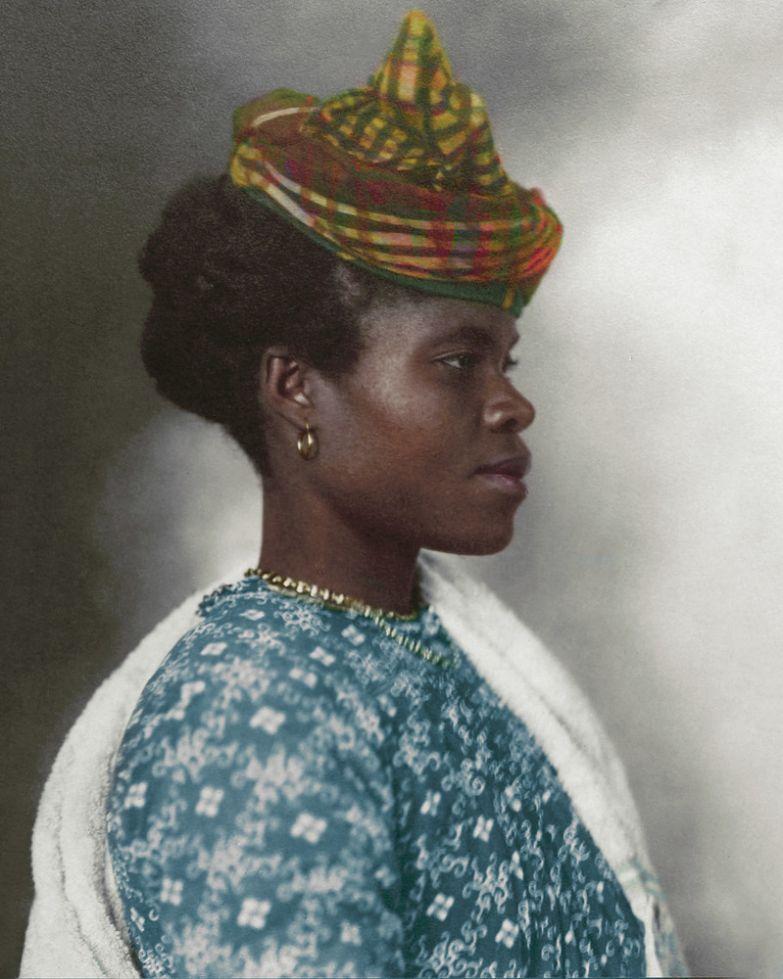 Жительница Гваделупы, 1911 история, костюмы, сша, эмиграция