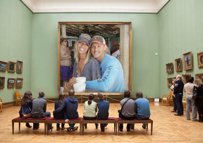 Девушка попросила убрать незнакомца с помолвочного снимка, а за дело взялись фотошоп-тролли незнакомец, пара, помолвка, просьба, снимок, тролль, фото, фотошоп
