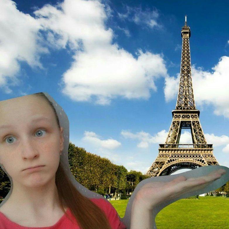 Вы не были в Париже? А она была! Быстро всем плакать! Зависть, интересное, подборка, понты, юмор