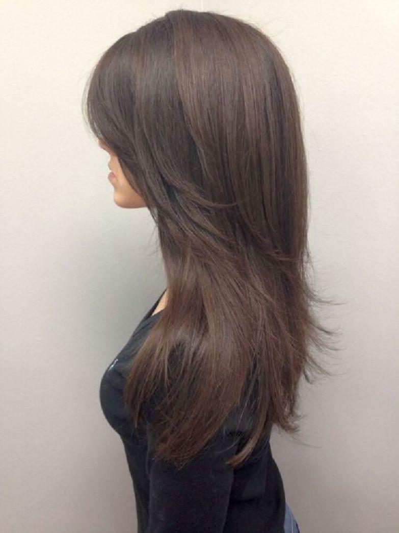 Прическа каскад на длинные волосы спереди и сзади