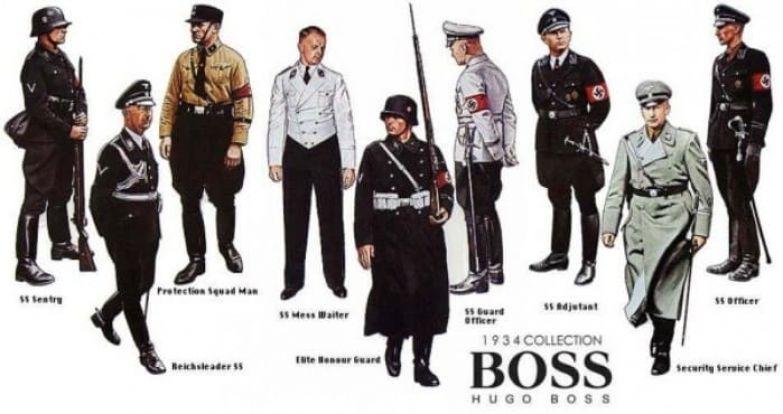 Нацистская форма, пошивом которой занималась компания *Hugo Boss* | Фото: bowandtie.ru