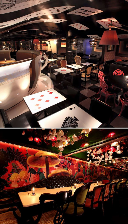 Побывайте в Стране Чудес Алисы, Alice In A Labyrinth, Токио, Япония мир, подборка, ресторан