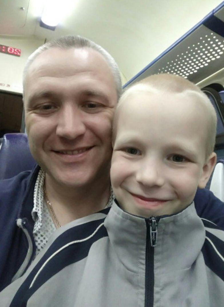 Роман Шимко с сыном Алешей