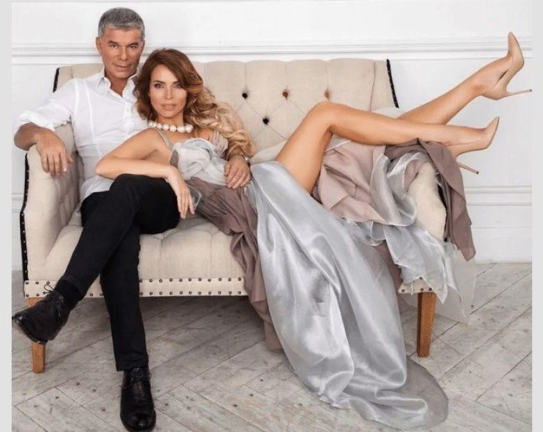 Олег Газманов с супругой.