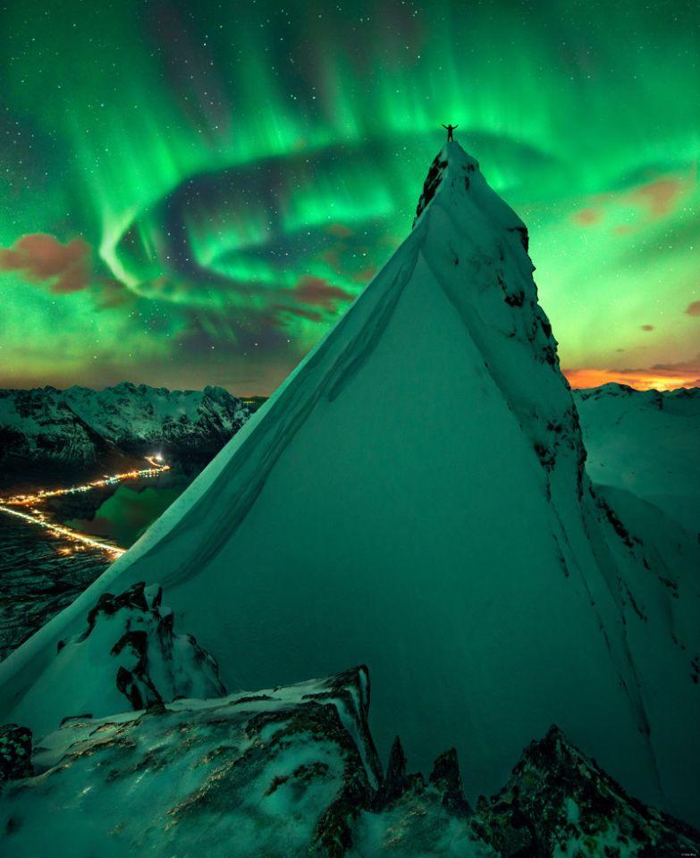 «На вершине мира». Норвегия без фотошопа, природа, удивительные фото, человек