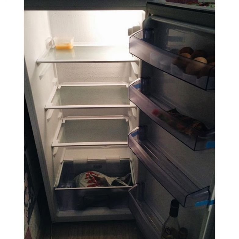 В холодильнике - мышь повесилась жизненно, прикол, сильный независимый мужчина, холостяк
