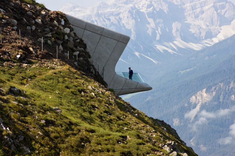 Messner Mountain Museum Corones. Zaha Hadid Architects.