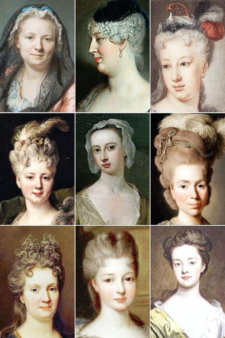 Прически 18 века из чего сделан