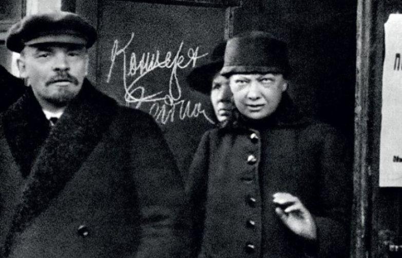 Владимир Ленин и Надежда Крупская.