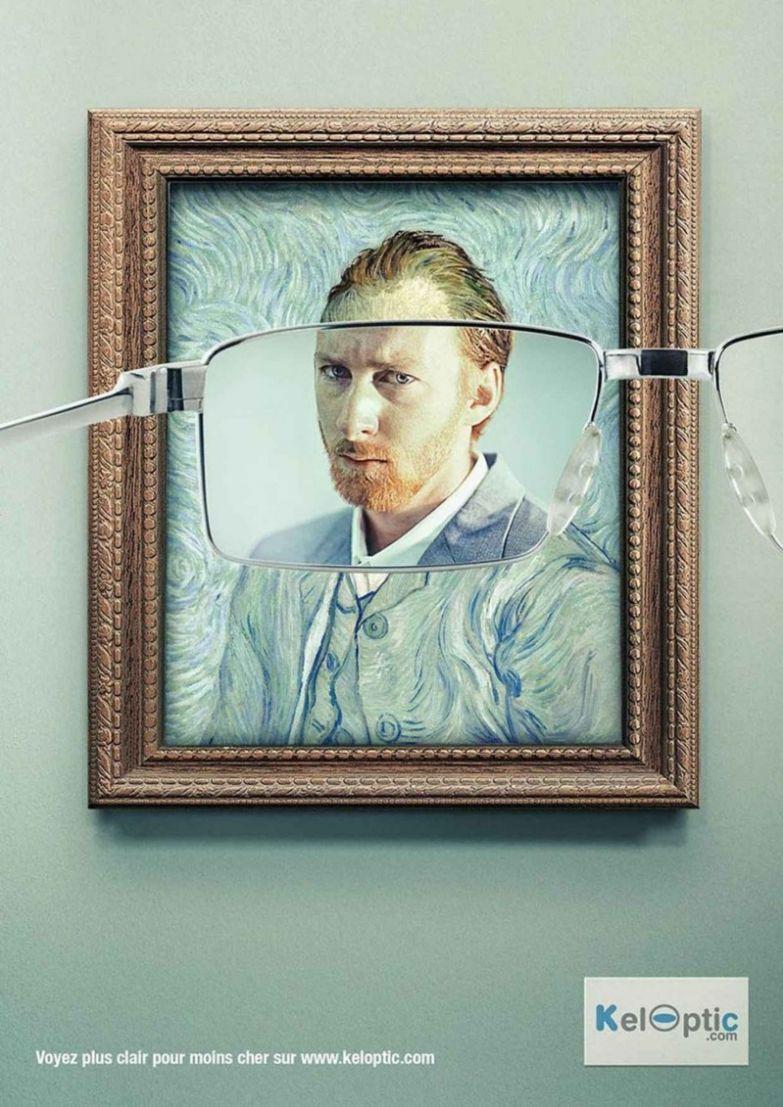15. Очки Keloptic настолько хороши, что даже картины импрессионистов вы увидите четко интересно, креативная реклама, рекламные, трюки