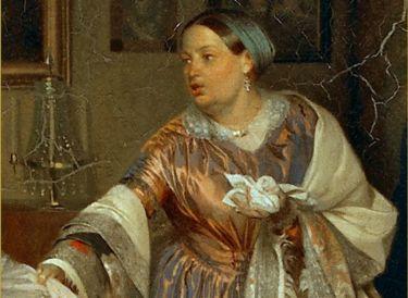 П. Федотов. Сватовство майора, 1848. Фрагмент | Фото: art-portrets.ru