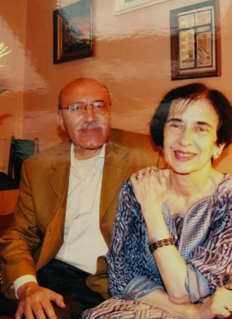 Галина Джугашвили с мужем Хосином Бенсаадом