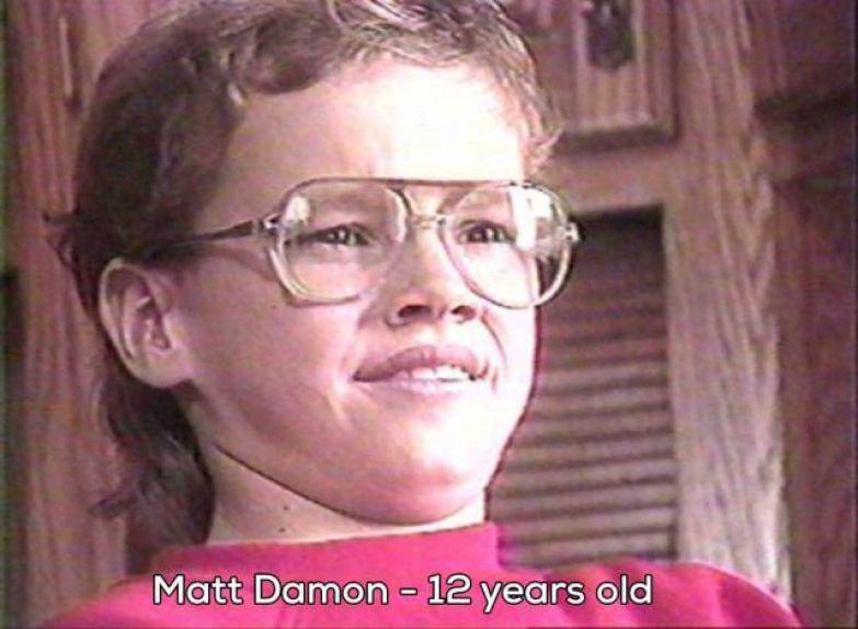 24. Мэтт Дэймон в 12 лет мир, фотография