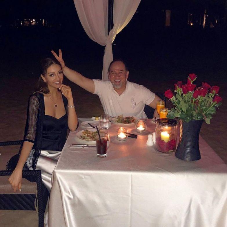 Оксана Воеводина с бывшим супругом