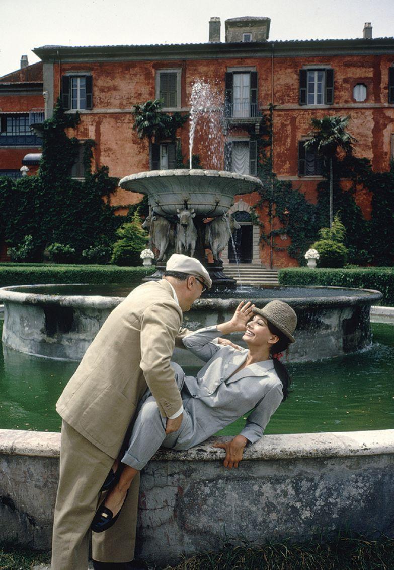 Карло Понти и Софи Лорен на своей итальянской вилле