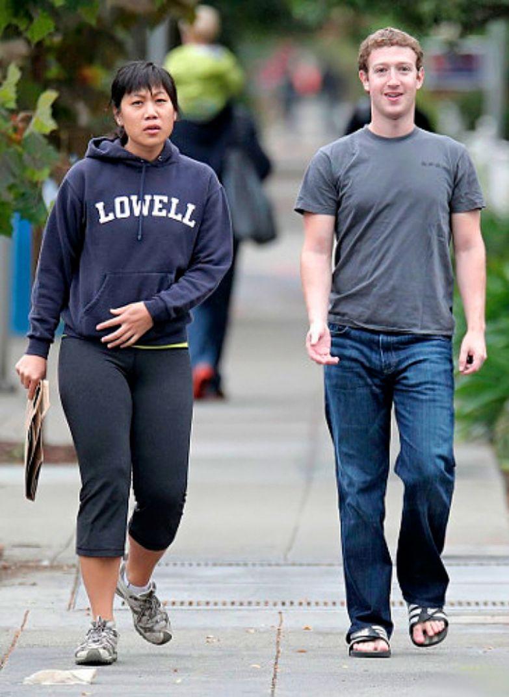 3. Марк Цукерберг и Присцилла Чан Любовь, знаменитости, некрасивые жены, фото