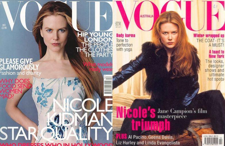 Vogue US, декабрь 1998; Vogue Австралия, февраль 1997