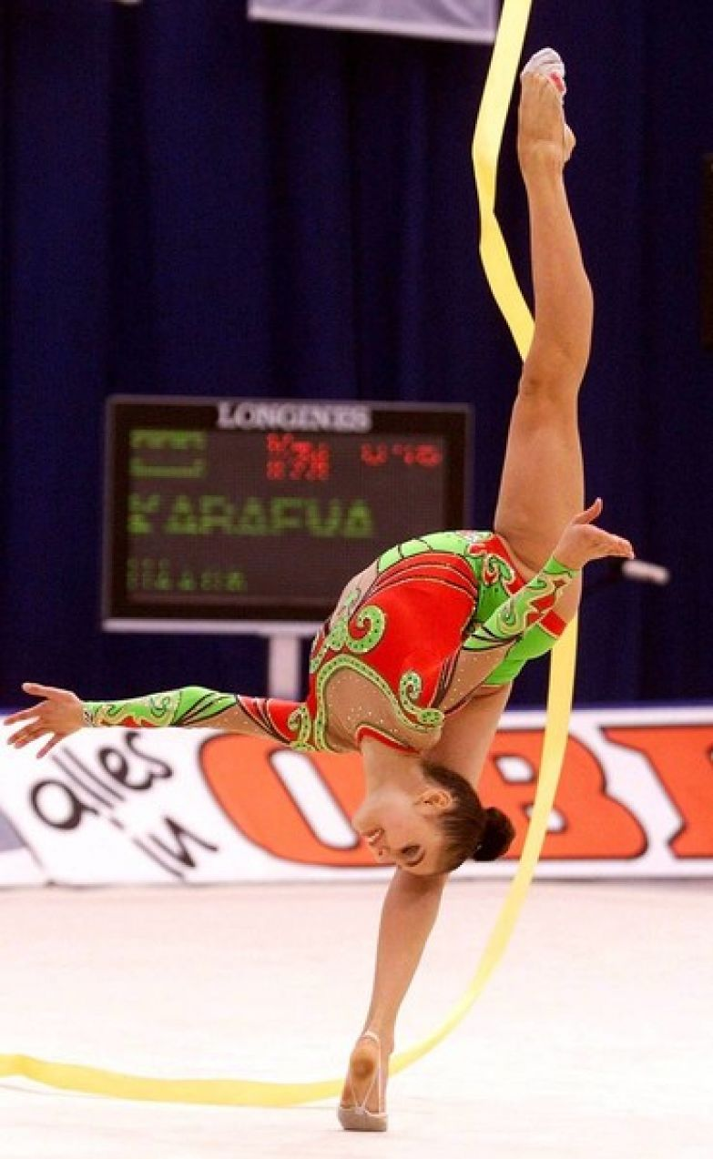 Любимым спортивным снарядом Алины Кабаевой была лента