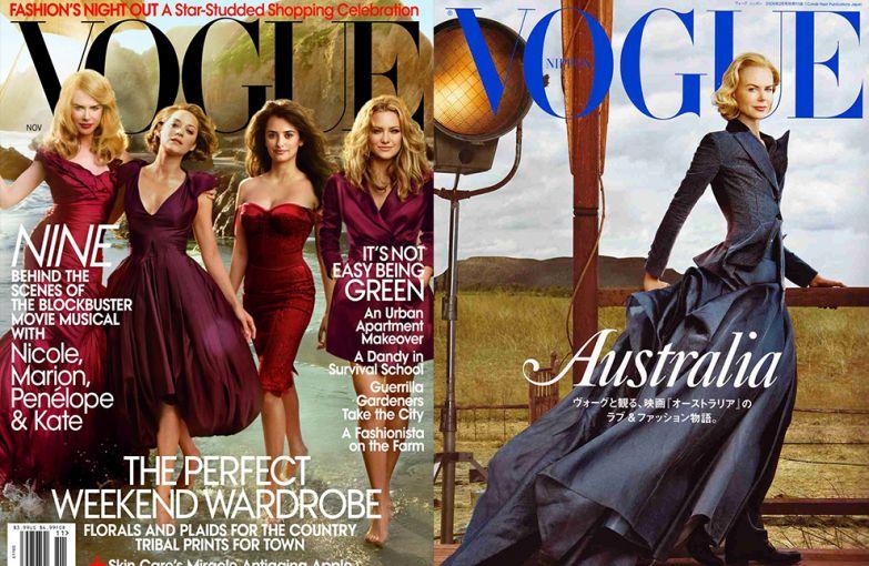 Vogue US, ноябрь 2009; Vogue Япония, апрель 2009