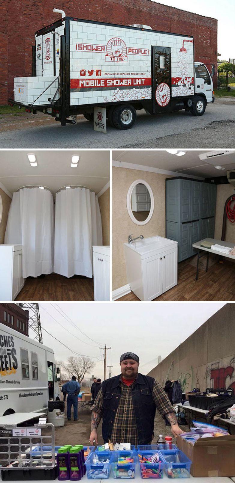 6. Дрю Бродерик и его бесплатный мобильный душ для бездомных людей доброта, мир, поступок