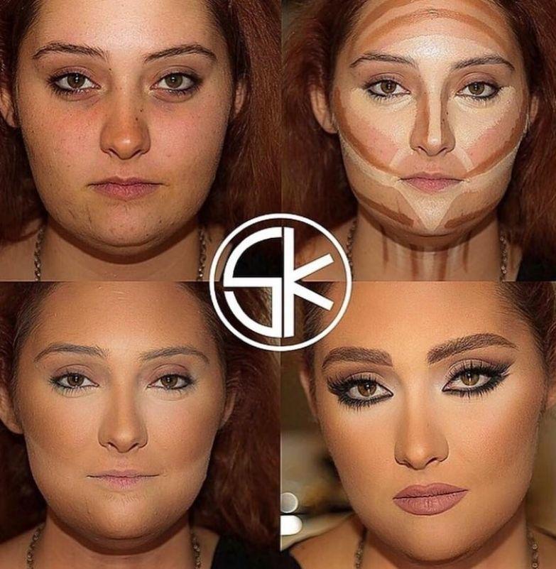 15. Поразительный результат до и после макияжа, контуринг, макияж