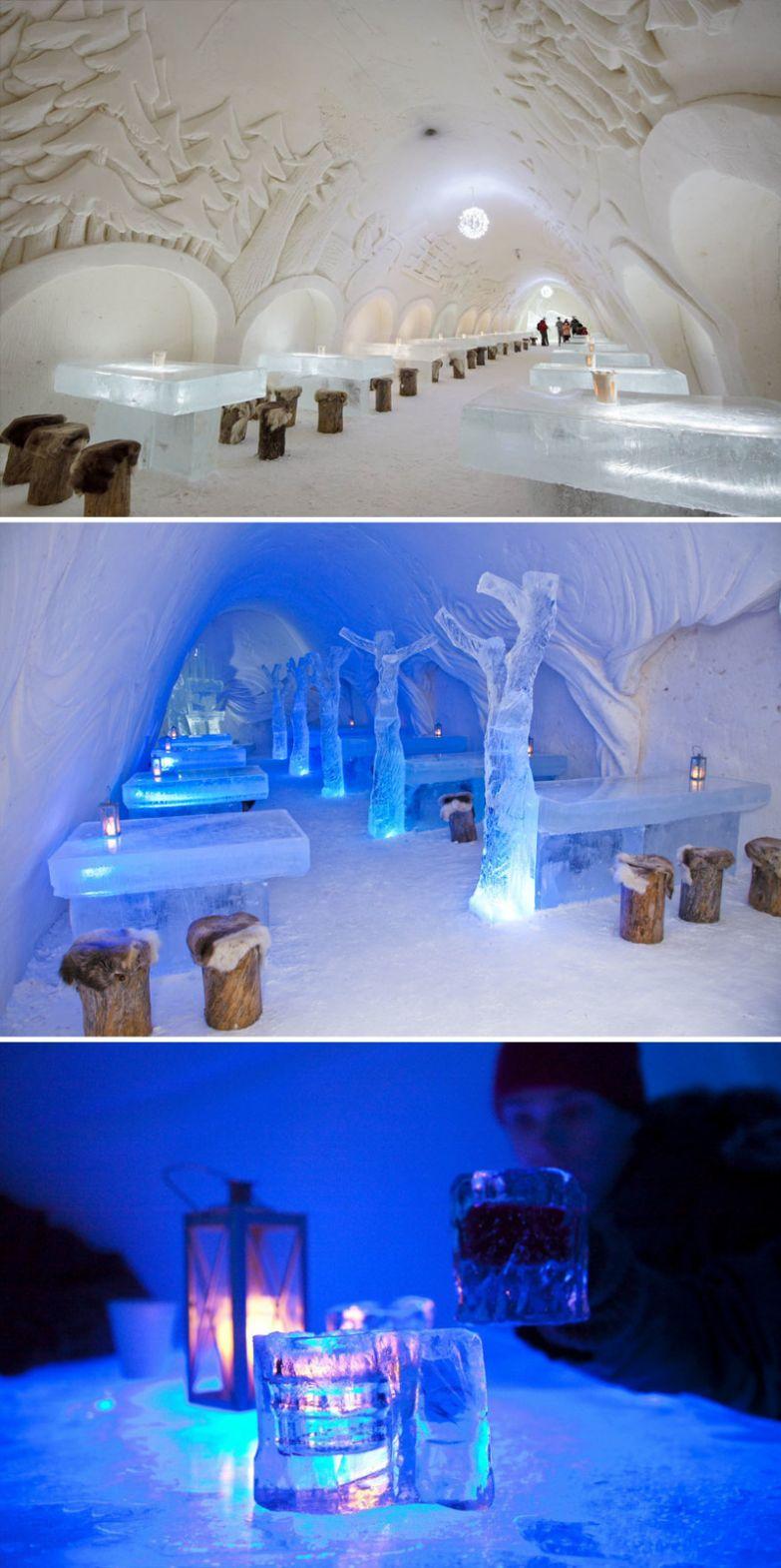 Снежный ресторан The Snowcastle Of Kemi, Кеми, Финляндия мир, подборка, ресторан