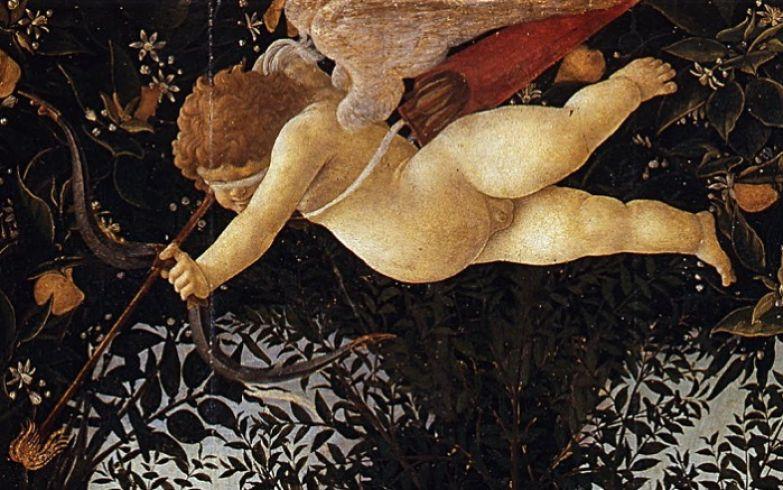 Амур,прицелившийся одну из Граций.