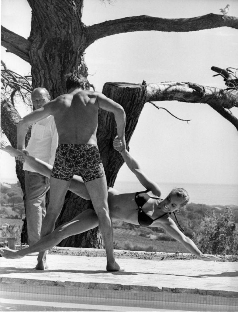 Ален Делон и Роми Шнайдер на съемках фильма «Бассейн», 1968
