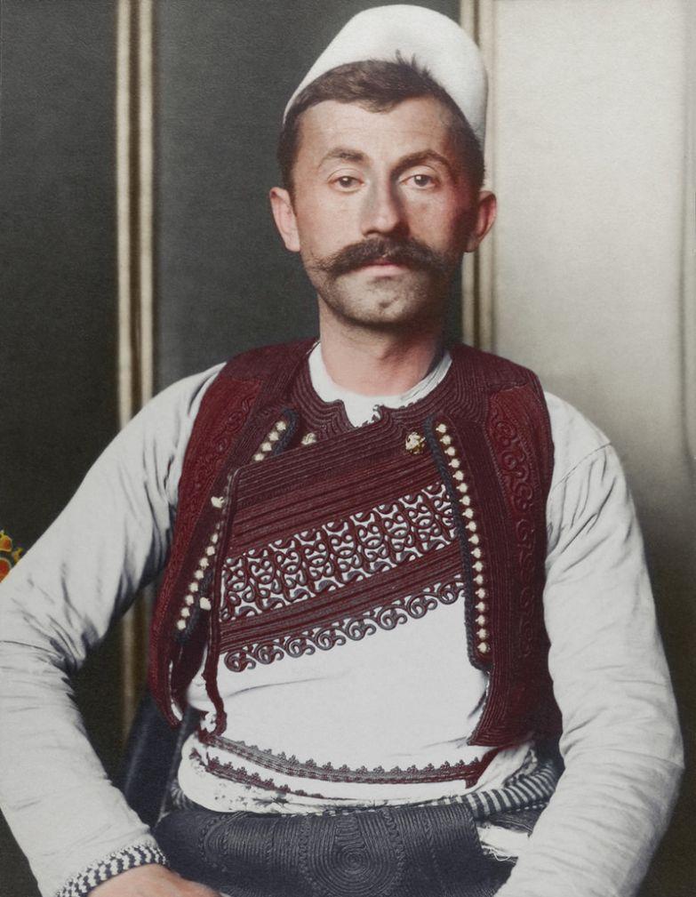 Албанский солдат, 1910 история, костюмы, сша, эмиграция