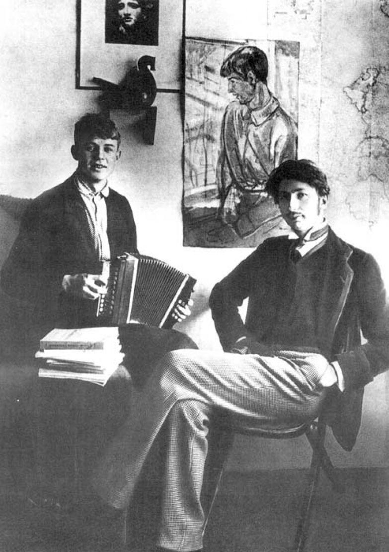 Сергей Александрович Есенин и Сергей Митрофанович Городецкий. 1915 год.