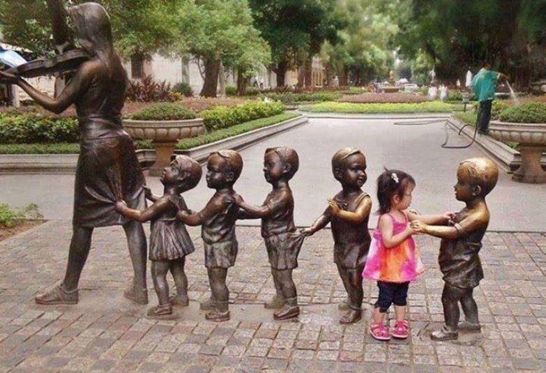 Фото детей, скульптура