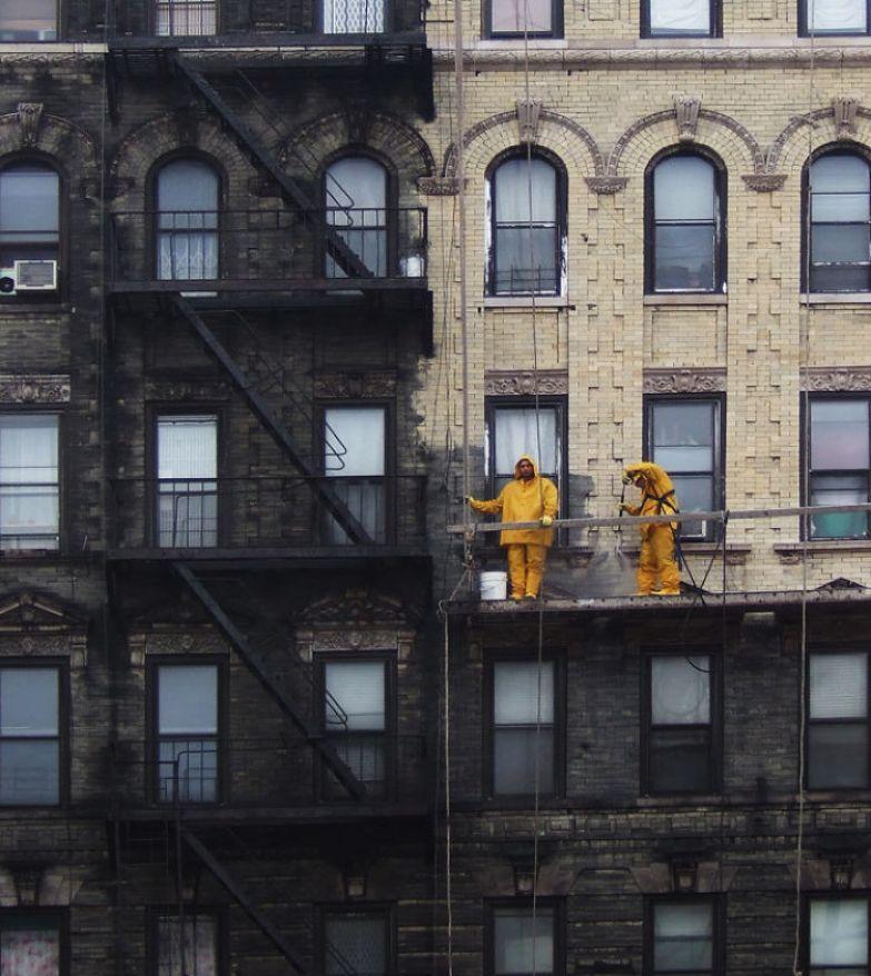 Мойка стен в Нью-Йорке искусство, мастерство, фото